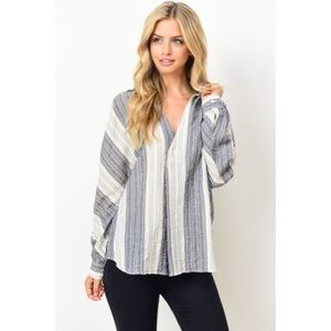 Jules Lightweight Woven Button Up Top